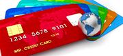 Ein Stapel kostenloser Kreditkarten