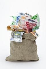 Ein Sack voll Geld abheben